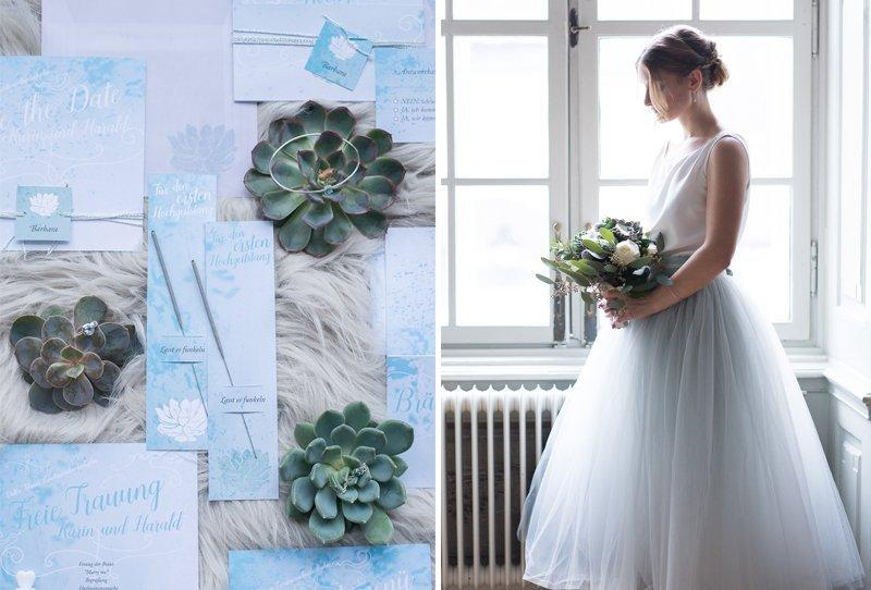 Ice Blue Wedding Inspirations from Barbara Wenz