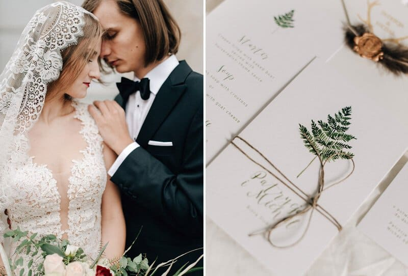 Wedding Vows in the glow of the 20s by Grace and Blush Photography