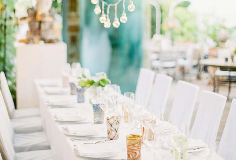 Intimate Garden Wedding with Peaches & Mint by Pia Clodi