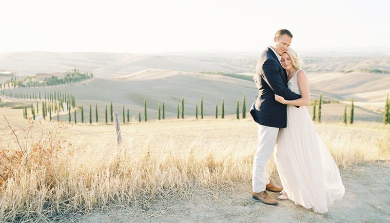 Sunrise Vow Renewal in Tuscany by Sansaara Photography