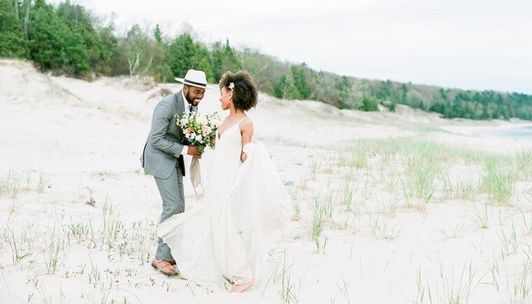 Intimate Dune Elopement by Kelly Sweet Photography
