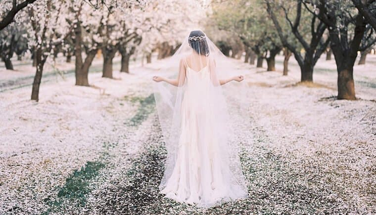 Graceful Bridal Accessories in a Sea of Flowers by Lara Lam Photography