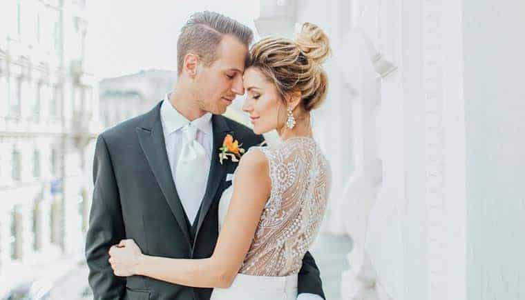 Modern Wedding Inspiration In Vienna by Magnolias on Silk and Anja Schneemann