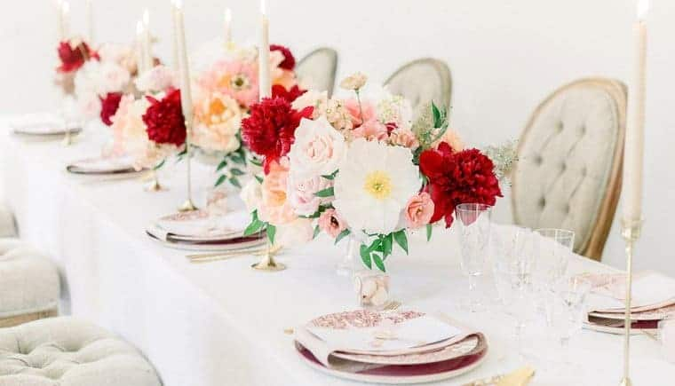 Colorful and feminine bridal inspiration