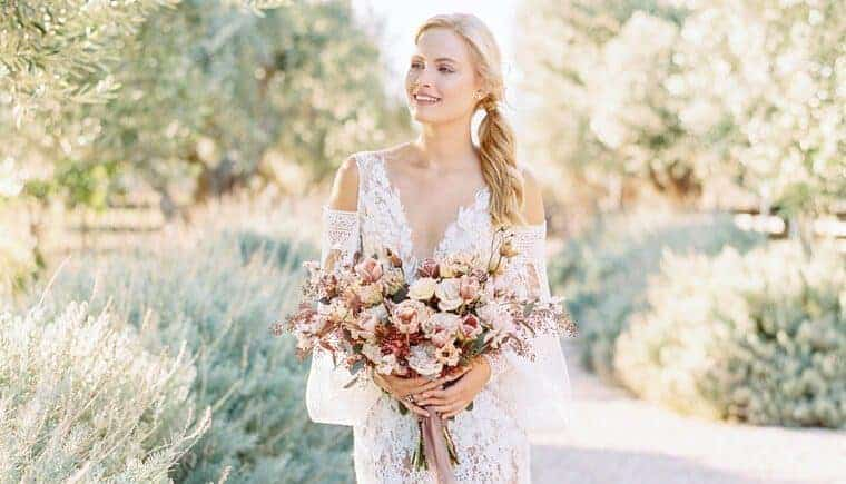 Dreamy Organic Micro-Wedding Inspiration in Greece